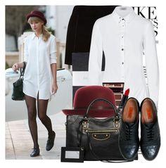 """TREND Shirtdress: Taylor Swift"" by harleenqueen ❤ liked on Polyvore featuring Hobbs, Steffen Schraut, Charlotte Tilbury, Balenciaga and Miz Mooz"
