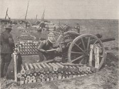 18 pounders in action Third Ypres