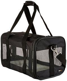 ... Black Soft-Sided Pet Carrier Medium Seatbelt Luggage Strap Cat Dog Up  To kg best  Sherpa ... 7b510f9da5d64