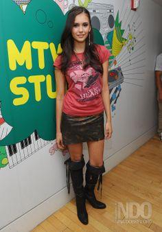 Nina Dobrev | MTV's TRL | August 11, 2008