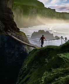 Carrick-a-Rede Rope bridge - Co. Antrim -Northern Ireland