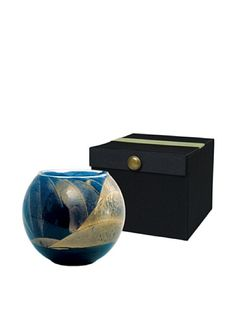 Jar Candles, Fabric Covered, Black Fabric, Swirls, Cobalt, Northern Lights, Globe, Wax, Decorative Boxes