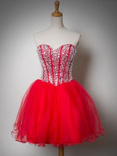 Bg1158 Sweetheart Homecoming Dress,Tulle Homecoming Dresses with Crystal,Short