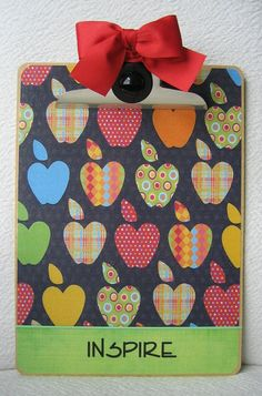 great to make for teacher gifts it yourself gifts made gifts gifts handmade gifts Craft Gifts, Diy Gifts, Handmade Gifts, Teacher Appreciation Gifts, Teacher Gifts, Clipboard Art, Teacher Clipboard, Arts And Crafts, Paper Crafts