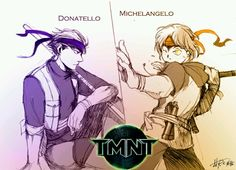 TMNT as humans Donny and Micky