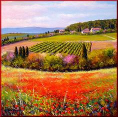 Tuscany Valley Painting * Mauro Bendinelli