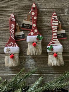 Handmade Christmas Crafts, Christmas Ornament Crafts, Homemade Christmas Gifts, Christmas Wood, Kids Christmas, Holiday Crafts, Santa Crafts, Christmas Stockings, Christmas Decorations