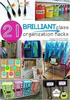 Storing and Organizing 21 Brilliant Classroom Organization Hacks. Genius tricks for storing supplies, keeping track of student work, plus tons of free printables to keep you organized all year long. Classroom Hacks, Classroom Setup, Classroom Design, School Classroom, Future Classroom, Classroom Libraries, Kindergarten Classroom Organization, Diy Classroom Decorations, Decorating Ideas For Classroom