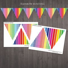 PRINTABLE Rainbow Bunting for a Rainbow Party  di RubyAndTheRabbit, £2.00
