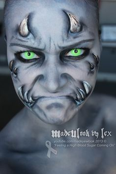 Representing High Blood Sugars by MadeULookbylex Amazing Halloween Makeup, Halloween Make Up, Halloween Face, Scary Face Paint, Face Paint Makeup, Monster Face Painting, Monster Makeup, Scary Makeup, Sfx Makeup