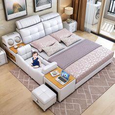 Room Design Bedroom, Modern Bedroom Design, Home Room Design, Modern Bed Designs, Simple Bed Designs, Best Bed Designs, Bed Designs With Storage, Double Bed Designs, Bedroom Designs