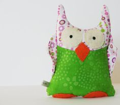 Scented Stuffed Animal OWL Handmade Toy with by tukaltd on Etsy, $18.00    Needs her first Etsy sale!!