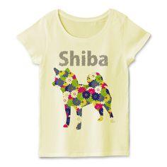 花柄柴犬シルエットTシャツ | デザインTシャツ通販 T-SHIRTS TRINITY(Tシャツトリニティ) ビビッドカラーの花柄が柴犬シルエット内にちりばめられた奇麗で可愛い柴犬Tシャツ&グッズ。 fooldesignオリジナル柴犬グッズ企画でも人気の高い柴犬のベクター花柄シリーズ。 キュートでオシャレなTシャツはいかがですか?