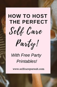 Want to host a Self Care party but don't know where to start? This post will give you tons of ideas to plan and host a fantastic Self care Party! Yoga Party, Self Care Activities, Counseling Activities, Self Care Routine, Stress Management, Lessons Learned, Best Self, Self Esteem, Take Care Of Yourself