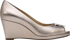 Naturalizer Ollie Wedge Pump - Champagne Leather 7.5 M (Regular)