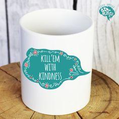 Kubek Kill'em with kindness 330 ml - studiopomyslu - Kuchnia