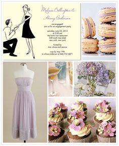 Light purple and cream engagement party