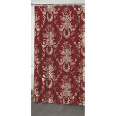@Overstock - This red floral 'Country House' design shower curtain by Waverly is 100-percent cotton.  The shower curtain is machine washable for convenience.    http://www.overstock.com/Bedding-Bath/Waverly-Country-House-Shower-Curtain/6417950/product.html?CID=214117 $28.19