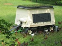 Chicken wagon.  So many great ideas to house hens.