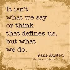 """#Nostalgia for the day: Who remembers reading Jane Austen? Do what you want others to do to you for that is what you are defined by. What was your favorite book by Jane Austen? Have a great day. #DrJoAnneWhite #PowerYourLife @JWPowerYourLife  """"It isn't what we say or think that defines us, but what we do."""" #JaneAusten #SenseAndSensibility"""