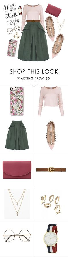 """Mixed Feelings"" by mcadamsa on Polyvore featuring Casetify, Edeline Lee, Valentino, Skagen, Gucci, LOFT and Laura Ashley"