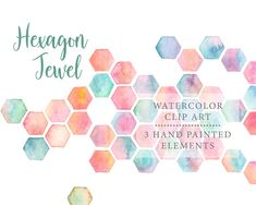 Hexagon jewel background watercolor clip art Watercolor Rose, Watercolor Background, Rose Shop, Wedding Invitation Design, Printable Art, Gift Tags, My Design, Clip Art, Hand Painted