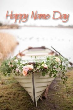 Happy Name Day, Birthday Wishes And Images, Floral Wreath, Happy Birthday, Flowers, Celebration, Cards, Castle, Gardening