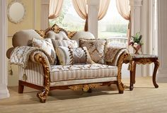 Camelia Rich Cherry Fabric Solid Wood Removable Back Loveseat