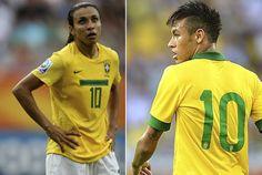 ONZE!FUTEBOL : Marta joga com a camiseta 10, o que Neymar pensa q...