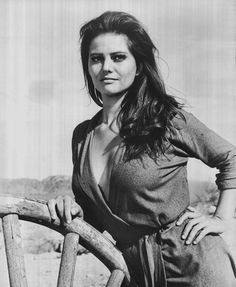 Claudia Cardinale as Mrs. Maria Grant - The Profesionals, 1966. During the filming of a scene where Maria attempts to escape through a canyon wired with dynamite, Cardinale's stunt double was badly injured. Cardinale, who had never ridden a horse before, performed the stunt herself in the final cut.