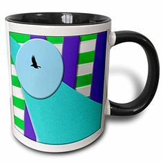 Jos Fauxtographee Layers - A Bird in Disc of Blue with Layers of Purple, Green and Aqua Textured - 11oz Two-Tone Black Mug (mug_52464_4) 3dRose http://www.amazon.com/dp/B013C35JFC/ref=cm_sw_r_pi_dp_kjL2wb1W6CBQ1