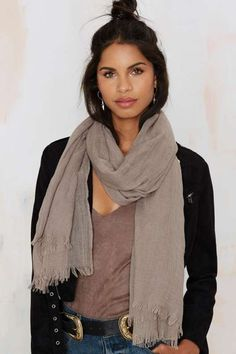 Sheer the Course Fringe Scarf