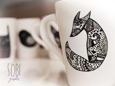 Tasse renard / fox navajo céramique modèle unique. €10,00, via Etsy.