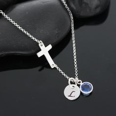 Sterling Silver Cross Necklace on Sterling  Silver by MonyArt, $31.80