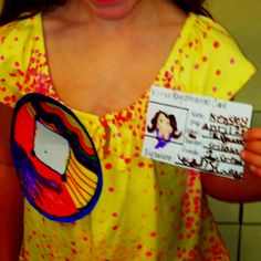 Campaign button and voter registration card for a classroom election. Created by a female first-grade student.