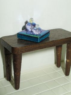 Dollhouse Miniature Vanity Perfume Tray by FortuneCrafts on Etsy, $6.00