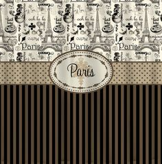 Personalized Vintage Paris and Stripe Shower Curtain by redbeauty, $78.00