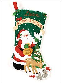 Bucilla ® Seasonal - Felt - Stocking Kits - Christmas Feast. #bucilla #stockings #christmas #plaidcrafts