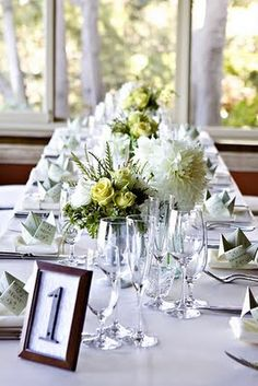 DIY table numbers from house address numbers