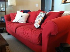 Contemporary Red Couch Decorating Ideas and the Beautiful Interior Furniture: Modern Red Couch Decorating Ideas ~ topdesignset.com Home Accessories Inspiration