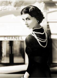 Coco Chanel at Place Vendome in Paris
