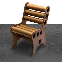 Cadeira de Papelão Cru | iBacana