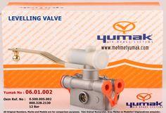Levelling Valve Yumak No : 06.01.002 Oem REf. No : 0.500.005.001 000.328.2030 0500005001 0003282030 0 500 005 001 000 328 2030 12 Bar www.mehmetyumak.com