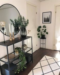 38 ideas home living room design plants for 2019 Home Living Room, Living Room Designs, Living Room Decor, Bedroom Decor, Dining Room, Small Condo Living, Coastal Living, Hallway Decorating, Home Decor Inspiration