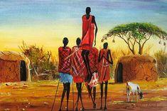 4 Dancing Maasai