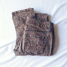 Bullhead Leopard Print Skinnies Super cute printed skinny jeans. Size runs small, from PacSun. Bullhead Jeans Skinny