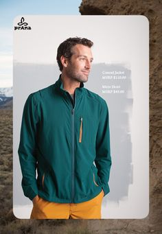 Like the look? Tell us what you think! prAna Conrad Jacket $110 and Mojo Shorts $49 #prana #comment #repin
