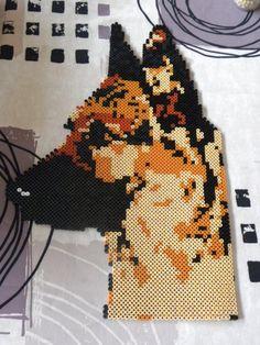 Dog German shepherd hama beads by perleshama76