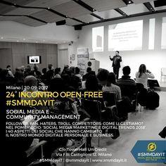 Finite le Vacanze? Allora ci vediamo il 20 all'incontro #SMMdayIT! Parleremo di #SocialMedia e #CommunityManagement http://ift.tt/2vOjNLt