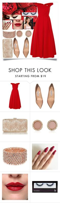 """""""60s prom look."""" by rostovskaya-regina on Polyvore featuring мода, Preen, Jimmy Choo, L.K.Bennett, Michael Kors, Bling Jewelry, BBrowBar, Prom, red и 60s"""